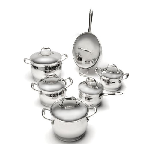 Zeno 12pc Cookware Set - Silver