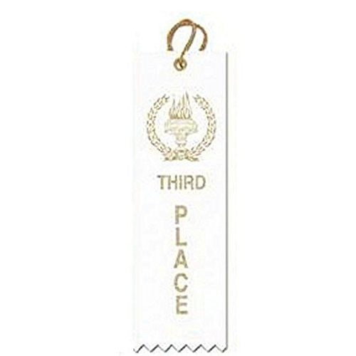 Award Ribbons Third Place-Yellow (Pack of 50)