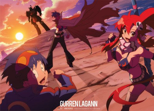 Gurren Lagann Simon, Kimina, & Yoko Wall Scroll