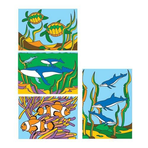 "Sand Art Boards - Sea Life, 5""x7"" (Pack of 12)"