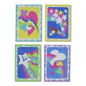 "Sand Art Boards - Hearts & Stars, 5""x 7"" (Pack of 12)"