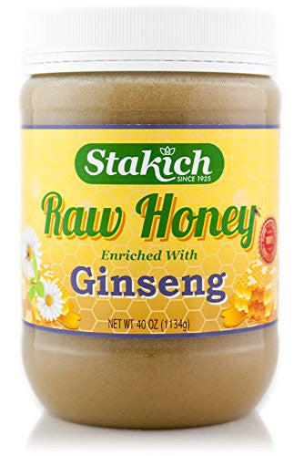 40oz ginseng enriched raw honey