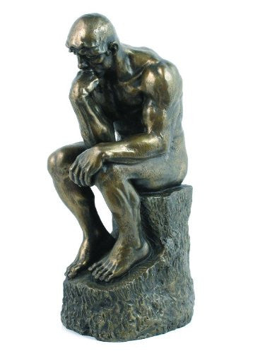The Thinker - Rodin Bronze H: 9 3/4""