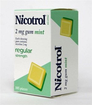 Nicotine Gum 2mg, 105 pcs. - Mint Flavor (Pack of 2)
