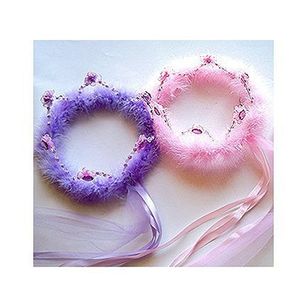 Crystal Flower Crown Halo. Color: Purple.