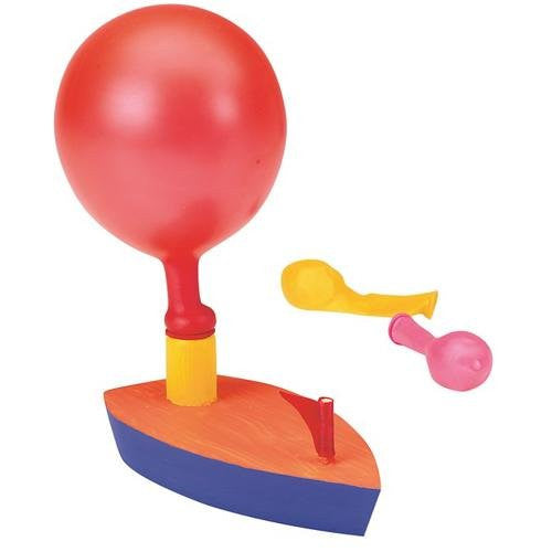 Wooden Balloon Powered Boat Craft Kit (Pack of 12)
