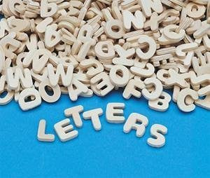 "Wooden Letters, 0.75"" x 0.75"" (Set of 300)"