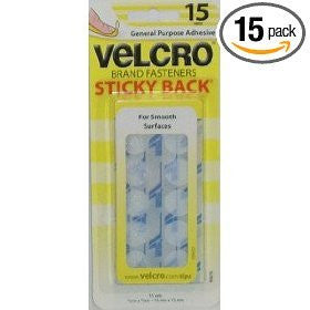 VELCRO® Brand Coin - Sticky Back™ - White - 5/8 inch - 15 pieces