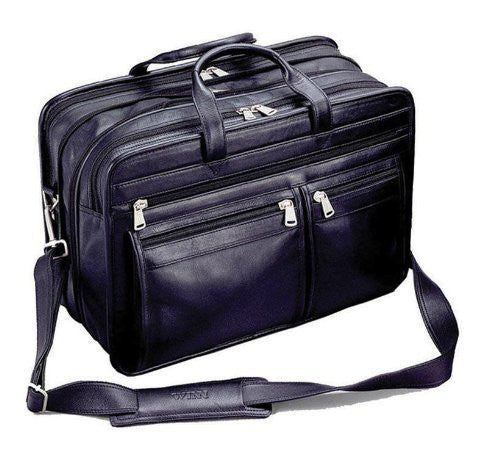 The Gladstone - Harness Cowhide Leather Expandable Briefcase With Accordion File