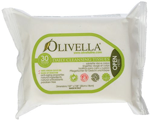 Olivella Facial Cleansing Tissues 30'S