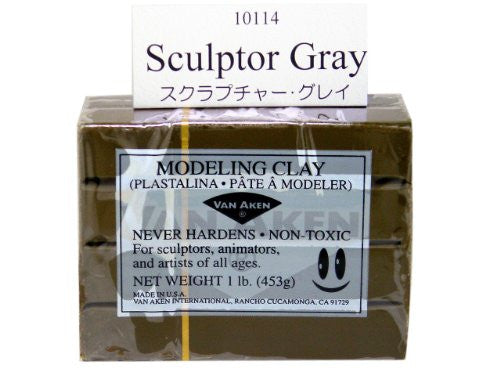 Modeling Clay Sculptor Gray 1 lb