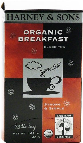 Premium Organic Breakfast - 20 tea bag box, Pack of 6