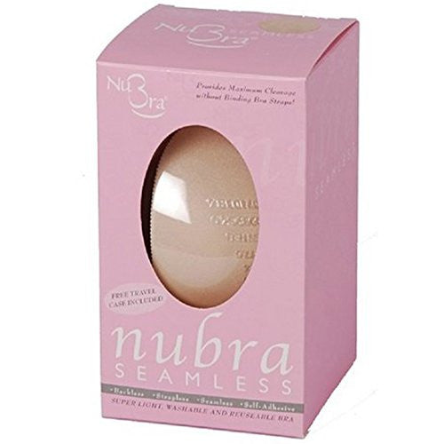 Nubra Seamless Super Light Adhesive Bra, D Cup, Nude