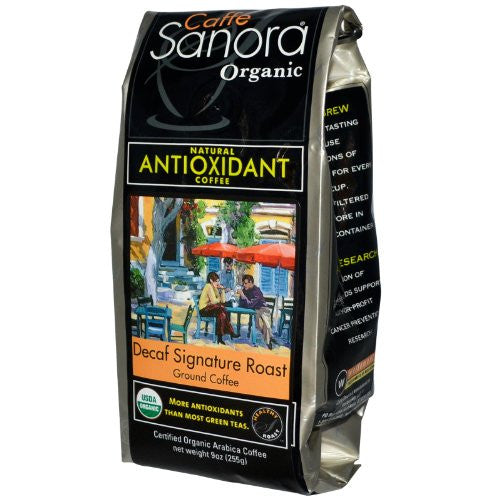 CAFFE SANORA Ground Coffee Signature Blend, Decaf At least 95% Organic 6/9 OZ