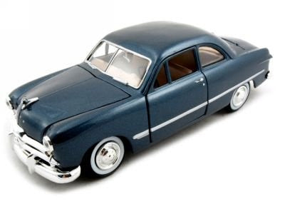 Motormax Premium American - Ford Coupe Hard Top (1949, 1/24 scale diecast model car, Blue)