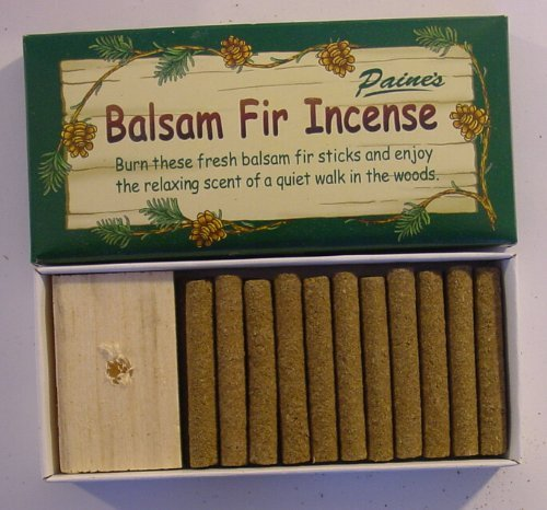 "24 Balsam Fir Incense Sticks and Holder, 2"" Long"