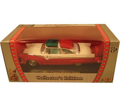 Yatming Road Signature - Ford Crown Victoria Hard Top (1955, 1/43 scale diecast model car, Red)
