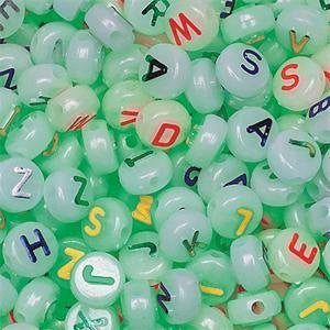 Glow in the Dark Alpha Beads, 10mm (600pcs Bag)