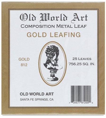 Metallic Leafing Sheets Composition Gold 25 Sheet 5-1/2""