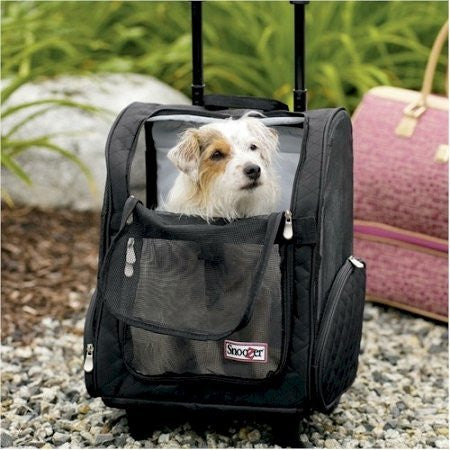 Snoozer Pet Products Wheel Around Travel Pet Carrier In Black Size: Large (up To 30 Lbs)