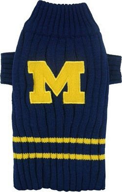 Michigan Wolverines Dog Sweater, small