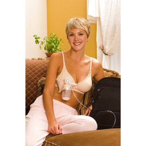 LLLI Contoured Hands-Free Pumping & Nursing Softcup Bra 4106 4106llli-40B