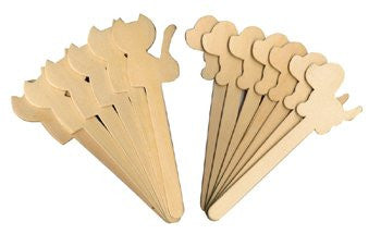 Wood Craft Sticks Dog & Cat - 16 Pcs Set