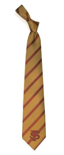 Florida State Seminoles Striped Woven Poly Tie