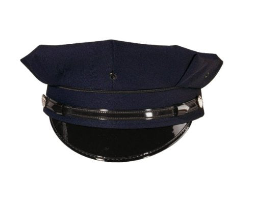 8PT Navy Blue Police/Security Cap - Size 7  1/2