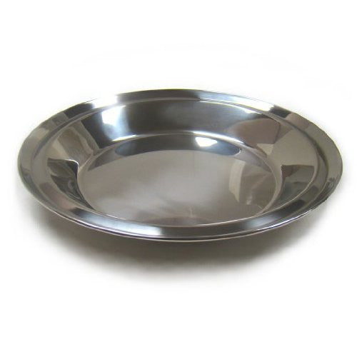 "Stainless Steel Pie Pan - 10.75"" Diameter"