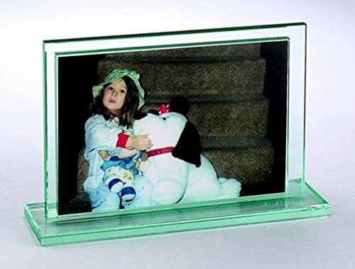 "5"" X 7"" Sandwich Glass Frame, Horizontal"