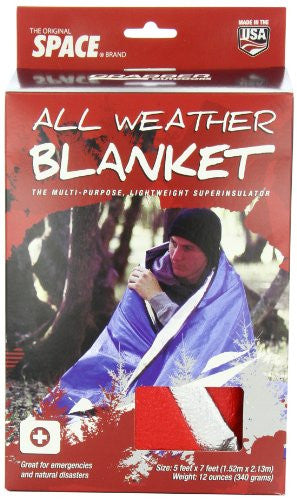 Grabber Outdoors Original Space Brand All Weather Blanket: Red
