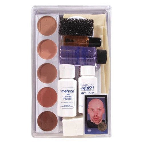 Character Makeup Kit Bald Cap Premium