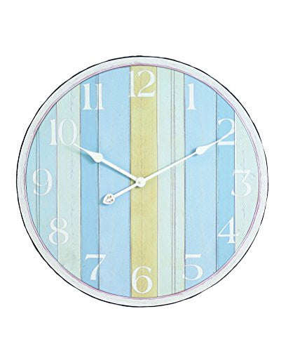 Nautical Stripe Large Wall Clock