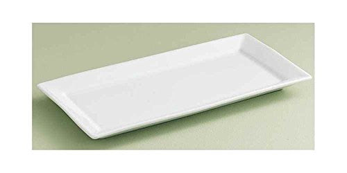 "WHITEWARE SMALL RECTANGULR PLATTER-1""h x 14.125""l x 7""w"