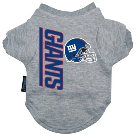New York Giants Dog Tee Shirt, gray, small