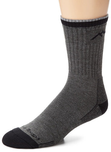 Men's Micro Crew Cushion (coolmax) - Charcoal L