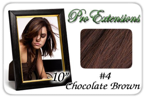 Standard Extension Volumizer - 10 Inch Clip on (#4 Chocolate Brown)