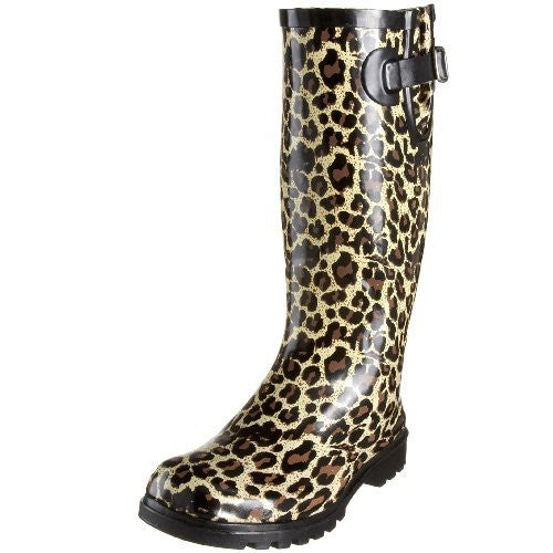Nomad Footwear Women's Puddles Rain Boot,Tan Leopard,10 M US