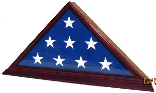 5' X 9.5' Flag Display Case - Finish : Cherry