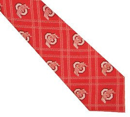 Ohio State Buckeyes Tie Woven Poly 2
