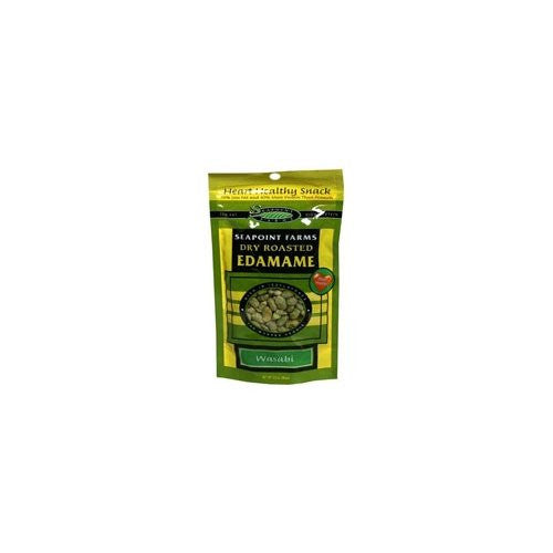 Edamame Dry Roasted Wasabi Flavor, Gluten Free 3.5 OZ (Pack of 12)