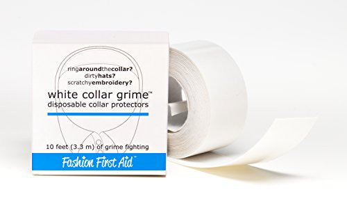Fashion First Aid White Collar Grime Disposable Collar Protectors-white-10 Feet