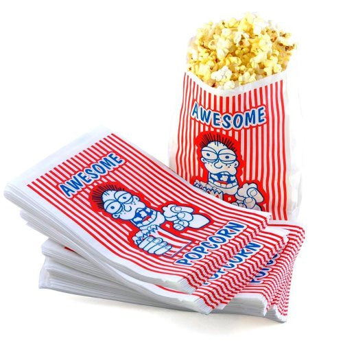 Case of 200 - 2 Ounce Oz Movie Theater Popcorn Bags