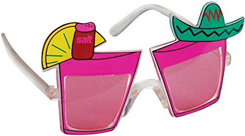 Pink Tropical Drink Sunglasses
