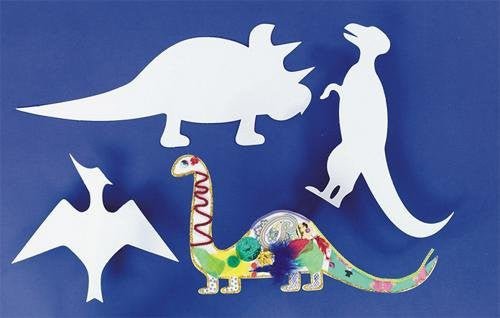 Precut Cardboard Shapes - Dinosaurs (Pack of 24)