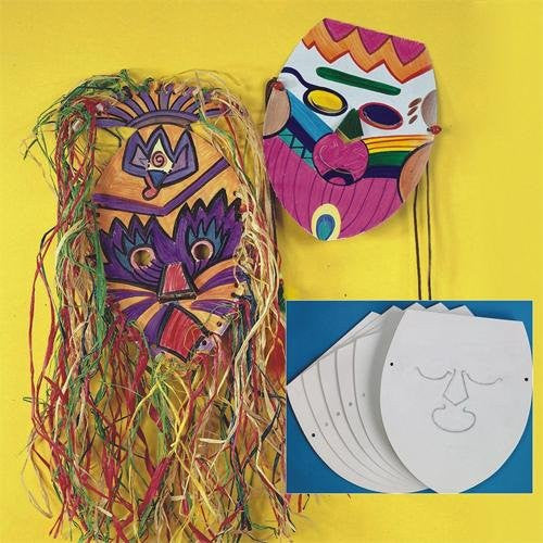 "Blank Cardboard Face Masks, 10-3/4"" x 9-1/2"" (Pack of 25)"