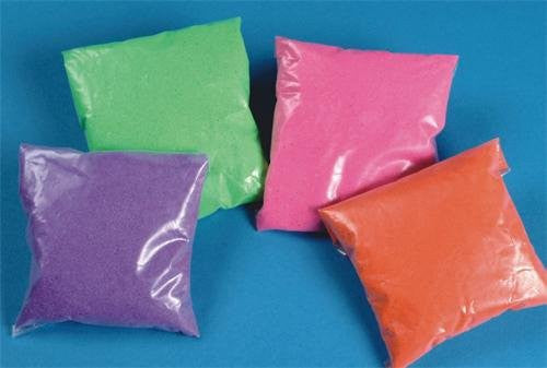 Fluorescent Sand - 4 Colors, 4-lbs. (Pack of 4)