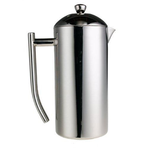 18/10 Stainless Steel French Press, mirror finish, 44 fl. oz.
