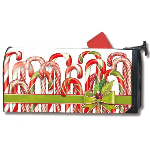 "Candy Canes Mail Wrap, 6.5"" x 19"" Mailbox"